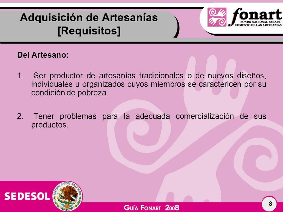 Adquisición de Artesanías [Requisitos]